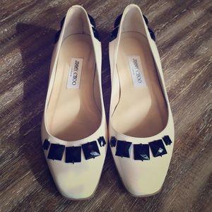 Cream Colored Jimmy Choo Flats